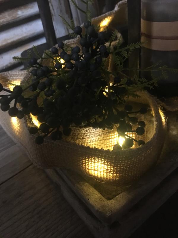 Jute lint met verlichting