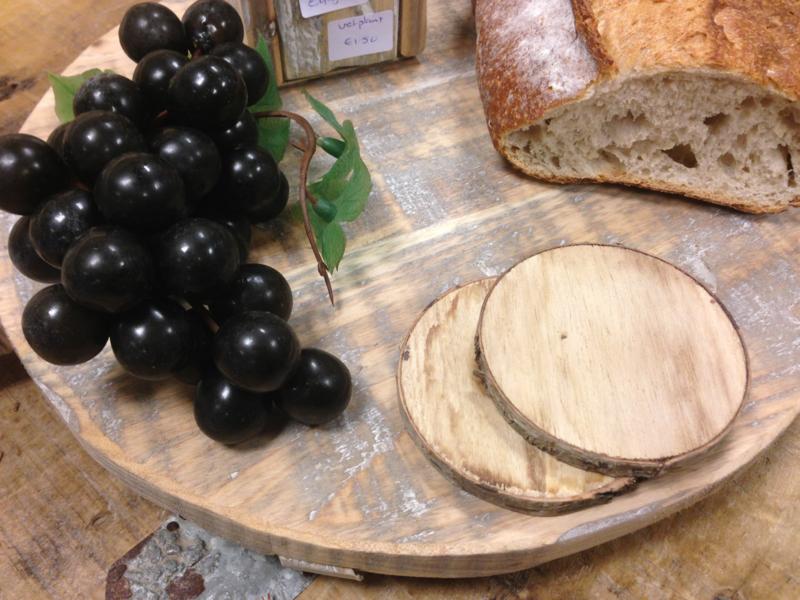 Houten ronde tapas plank