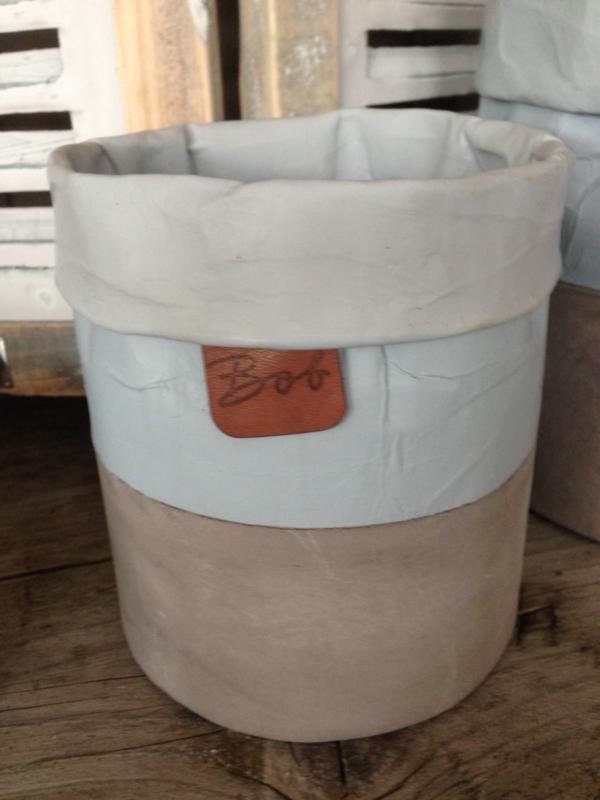Ibiza Cement plantenbak S BOB