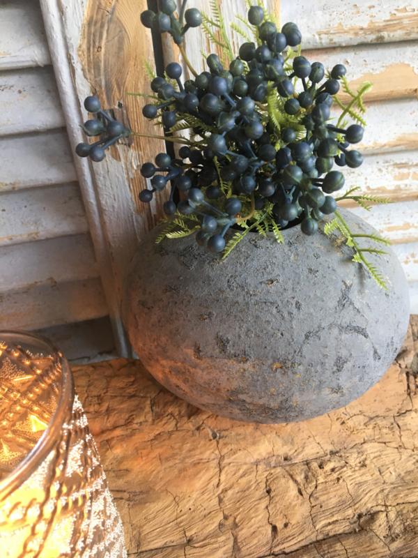Stenen vaasje Rusty Bruin S