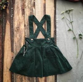 Apron Dress Forest Green