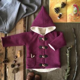 Wool Winter Coat Raspberry 122/128