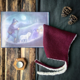 Wool Pixie Hat Plum