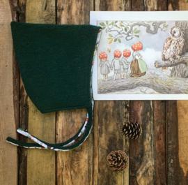 Wool Pixie Hat Dark Green Forest Size 6