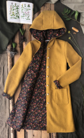 Women's Wool Spring / Autumn Coat Ochre