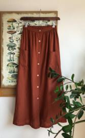 Maxi Skirt Linen Terracotta