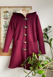 Women's Wool Winter Coat Plum