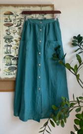 Maxi Skirt Linen Aquamarine