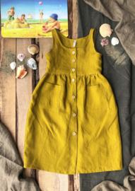 Maxi Dress Linen Mustard