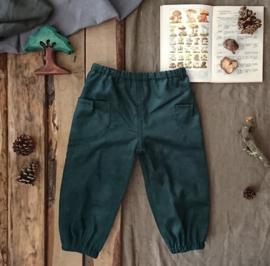 Corduroy Trousers Dark Green