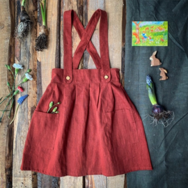 Apron Dress Linen Terracotta