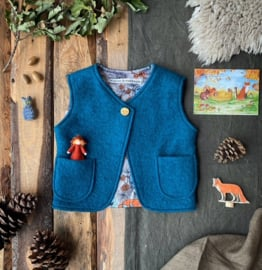 Wool vest Ocean Blue - Fox & Owl 98/104