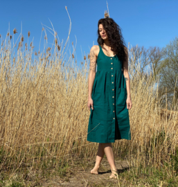 Spring / Summer Dress Linen Ocean Green