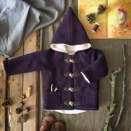 Wool Winter Coat Aubergine 98/104