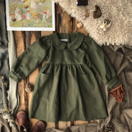 Collar Dress Moss Green