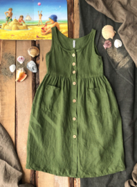 Maxi Dress Linen Moss Green