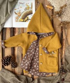 100% Wool Ochre -  Vintage Brown 122/128