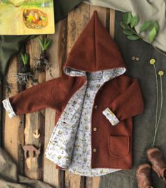 100% Wool Terracotta - Little Forest Grey 98/104