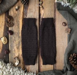 Wool Leg Warmers Coffee Brown