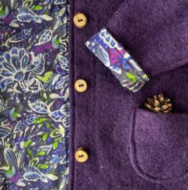 Aubergine - Batik Flowers 122/128