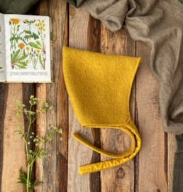 100 % Wool Pixie Hat Ochre Uni Size 4