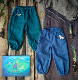 Linen Trousers Ocean Green