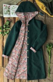 Women's Wool Spring / Autumn Coat Forest Green