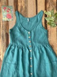 Maxi Dress Linen Aquamarine