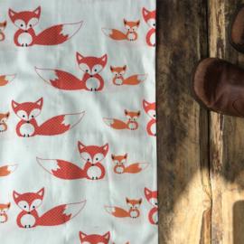 White Big fox and little fox  per meter