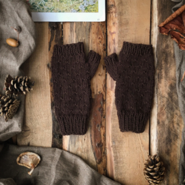 Wool Wrist Warmers Dark Brown