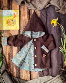 Linen Jacket Brown/Forest Animals