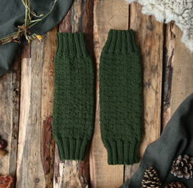 Wool Leg Warmers Mossgreen