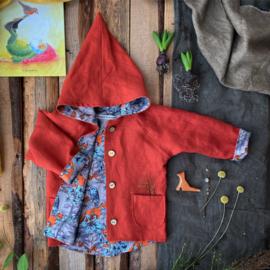 Linen Jacket Brick - Fox & Owl