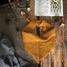 Triangle Scarf Ochre Yellow