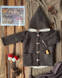 Wool Winter Coat Earth Tones 134/140