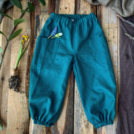 Linen Trousers Ocean Green