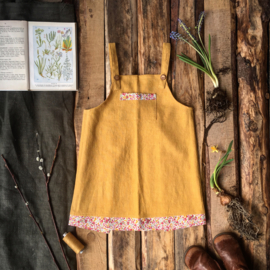 Apron Dress Wildflower - Ochre Yellow