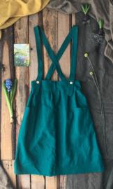 Apron Dress Women - Ocean Green Size 36