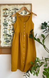 Spring / Summer Dress Double Gauze Mustard