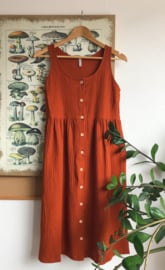 Spring / Summer Dress Double Gauze Terracotta