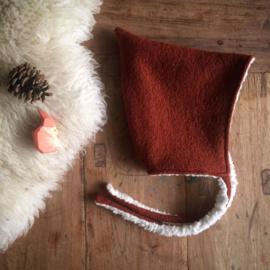 Wool Pixie Hat Terracotta