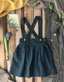 Apron Dress Linen Forest Green