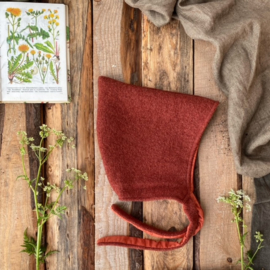 100 % Wool Pixie Hat Terracotta Uni Size 5