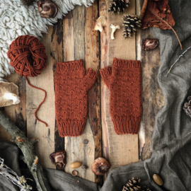 Wool Wrist Warmers Rust