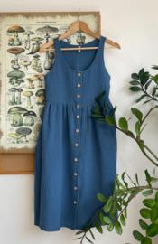 Spring / Summer Dress Double Gauze Swedish Blue