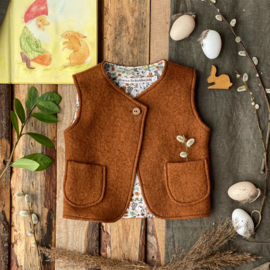 Wool vest Brown - Little bunnies 74/80