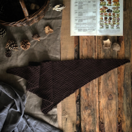 Triangle Scarf Brown