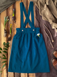 Apron Dress Women Petrol