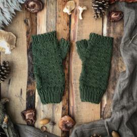 Wool Wrist Warmers Mossgreen