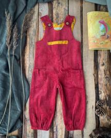 Jumpsuit Corduroy Red Ochre Squirrel
